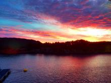 Solnedgang i Porsvika
