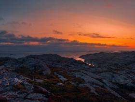 Telavåg - Utsikt fra Lynghøvda