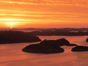 Solnedgang Algrøy