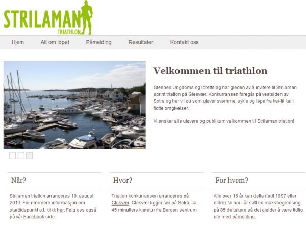 Strilaman triatlon