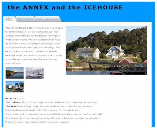 Anekset i Hanevik - Feriehus / Hytte ved sjøen