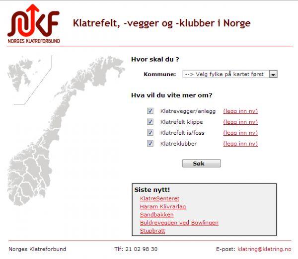 Klatrevegger i Norge