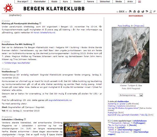 Bergen Klatreklubb - Klatrevegger