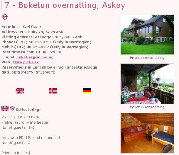 Bøketun bed & breakfast Ask