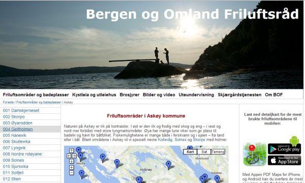 Friluftsområder og badeplasser på Askøy