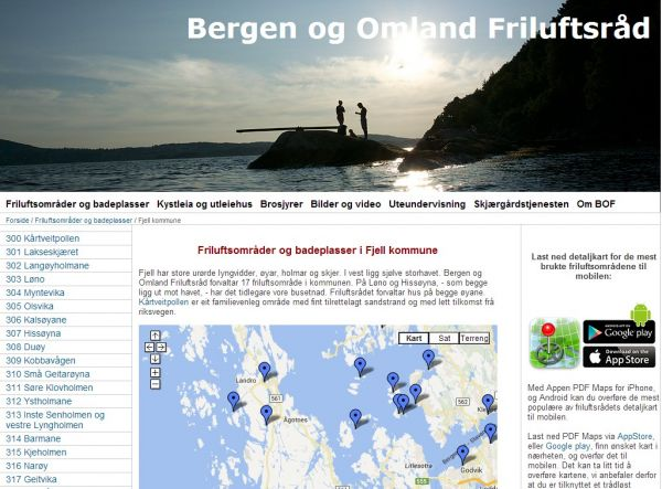 Friluftsområder og badeplasser i Fjell