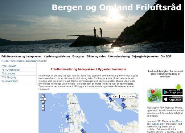 Friluftsområder og badeplasser i Øygarden kommune