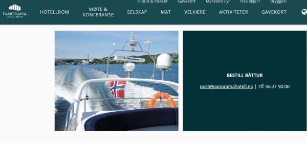 Panorama Hotell - Båttur og Fjordfiske
